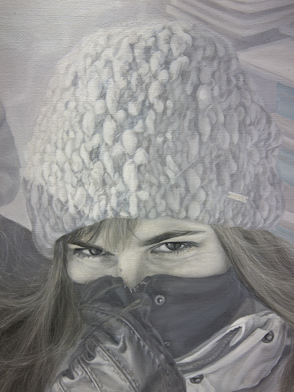 31 grudnia 2014 r., olej na płótnie, 100 x 120 cm, 2015 r. – fragment 2
