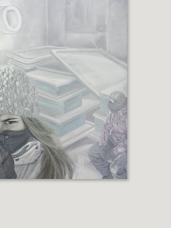 31 grudnia 2014 r., olej na płótnie, 100 x 120 cm, 2015 r. – fragment 3