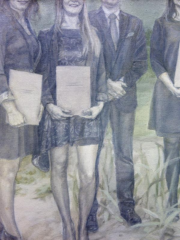 5 grudnia 2014 r., olej na płótnie, 100 x 120 cm, 2015 r. – fragment 2