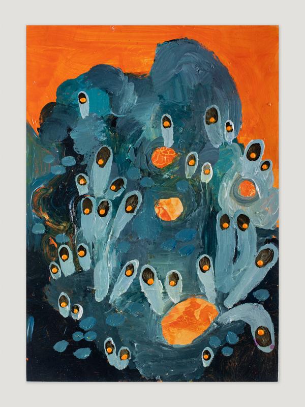 Johanna Alanko_Abstract plant series III_akryl_papier_35x48