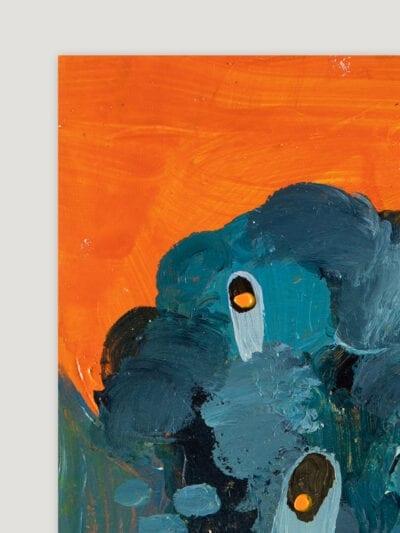 Johanna Alanko_Abstract plant series III_akryl_papier_35x48_1