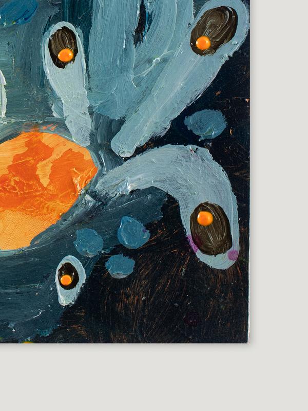 Johanna Alanko_Abstract plant series III_akryl_papier_35x48_2