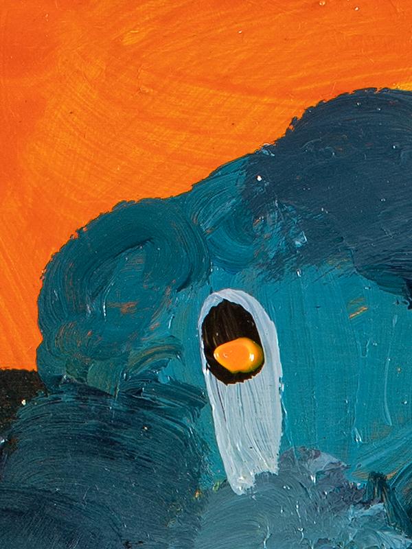 Johanna Alanko_Abstract plant series III_akryl_papier_35x48_3