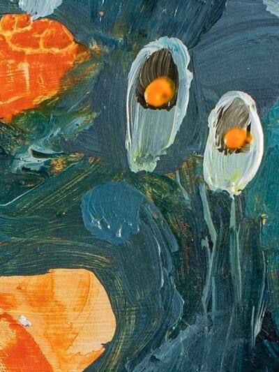 Johanna Alanko_Abstract plant series III_akryl_papier_35x48_4
