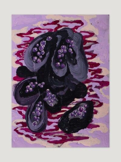 Johanna Alanko_Abstract plant series II_akryl_papier_35x48