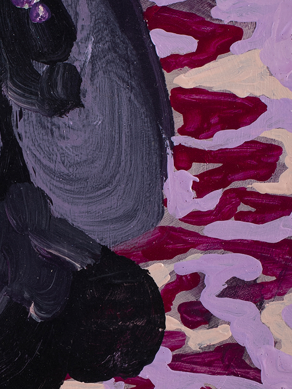 Johanna Alanko_Abstract plant series II_akryl_papier_35x48_4