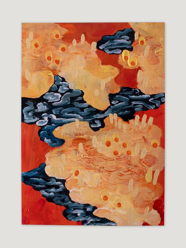 Johanna Alanko_Abstract plant series IV_akryl_papier_35x48