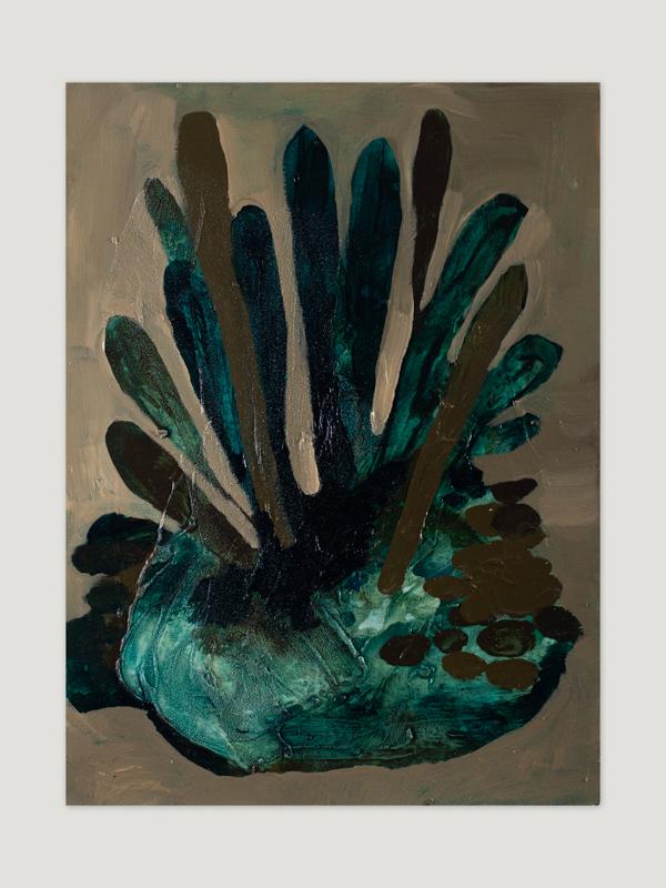 Johanna Alanko_Abstract plant series I_akryl_papier_35x48