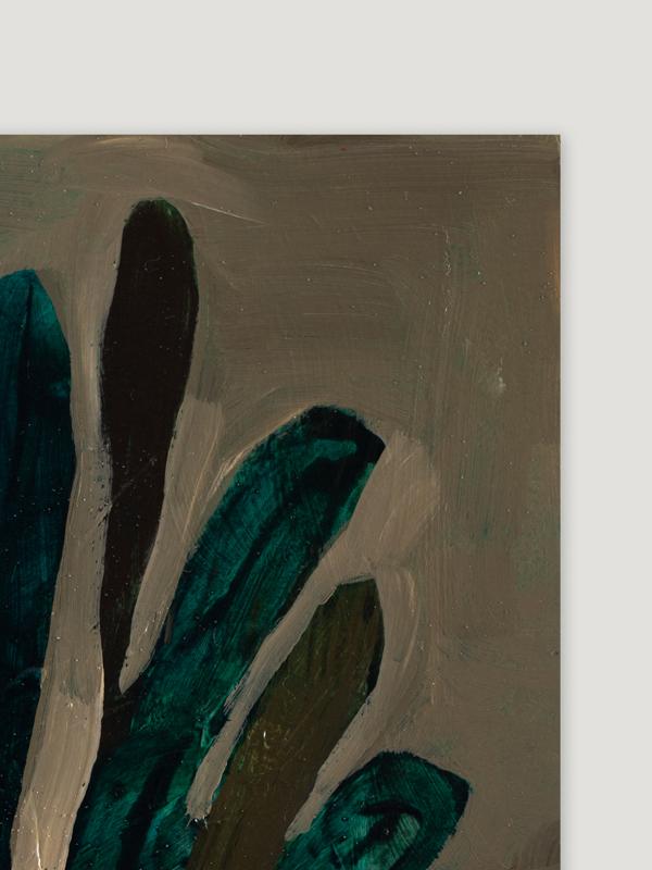 Johanna Alanko_Abstract plant series I_akryl_papier_35x48_1