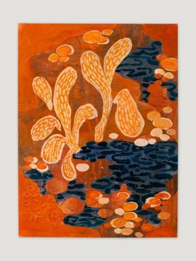 Johanna Alanko_Abstract plant series V_akryl_papier_35x48