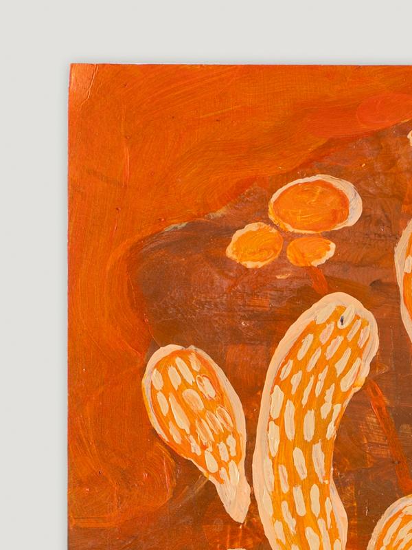 Johanna Alanko_Abstract plant series V_akryl_papier_35x48_1