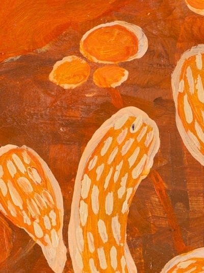 Johanna Alanko_Abstract plant series V_akryl_papier_35x48_3