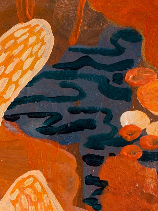 Johanna Alanko_Abstract plant series V_akryl_papier_35x48_4